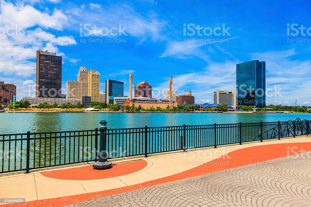 Toledo skyline, Ohio stock photo