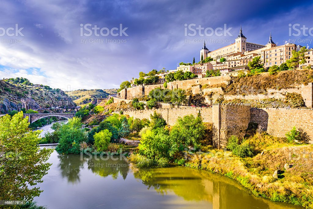 Toledo, Spain Old Town Skyline stock photo
