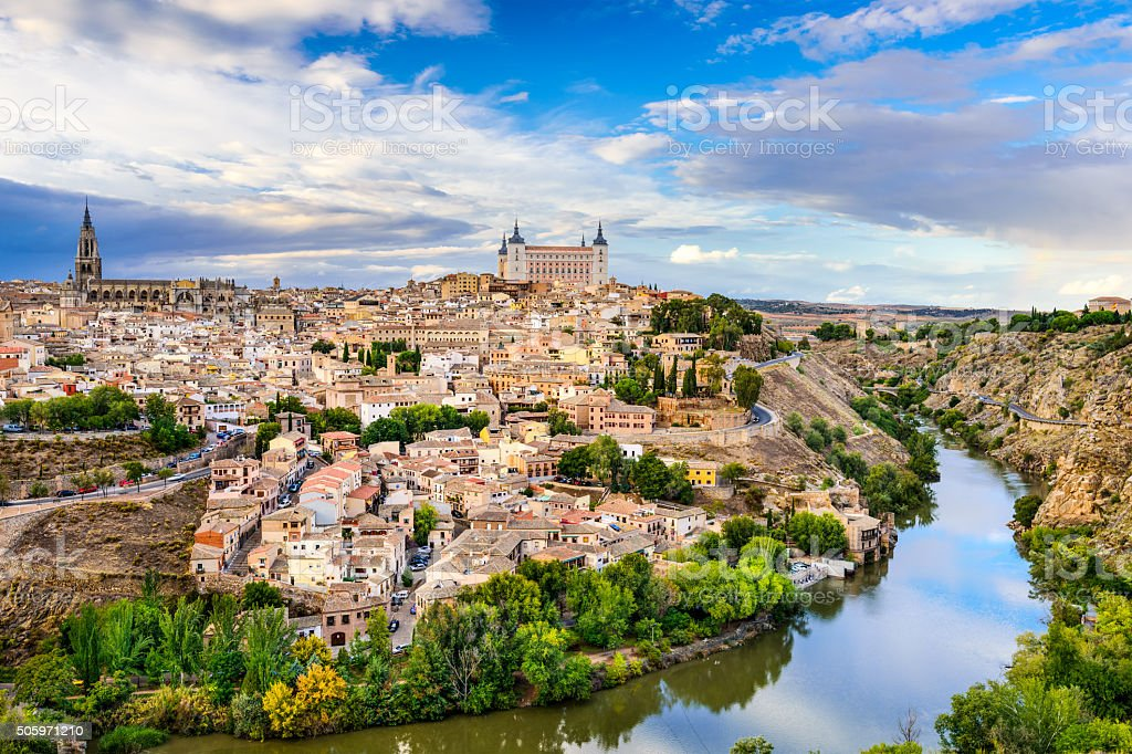 Toledo Spain on the River stock photo