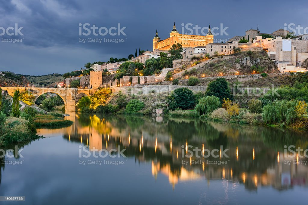 Toledo Spain Skyline stock photo