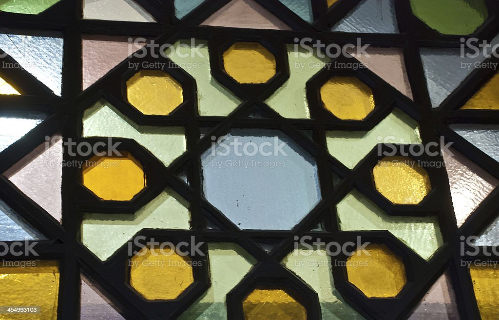 Toledo Stained Glass stock photo