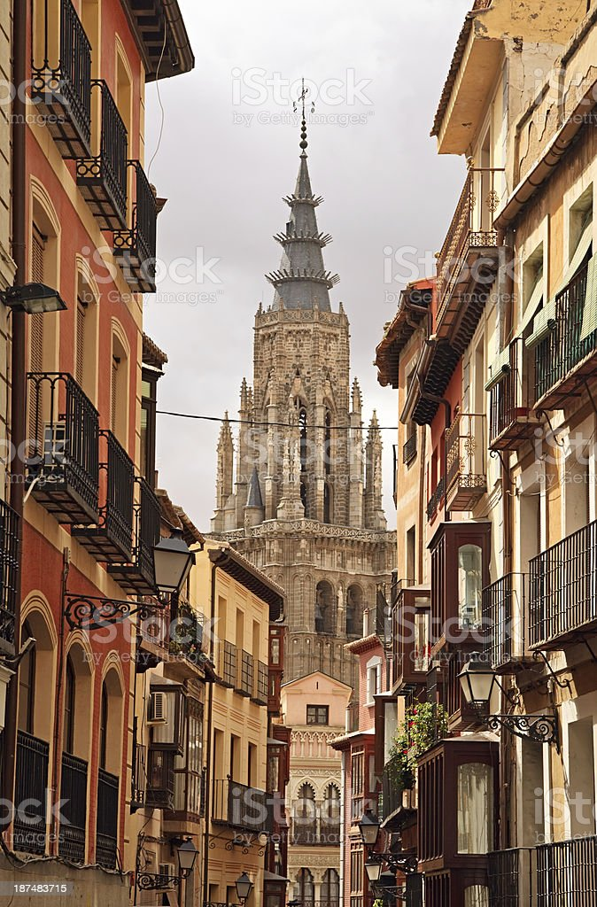 Toledo street, Spain stock photo