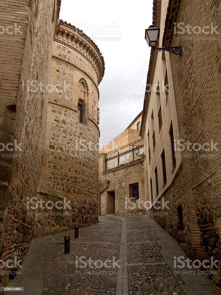Toledo ruas em um dia chuvoso foto royalty-free