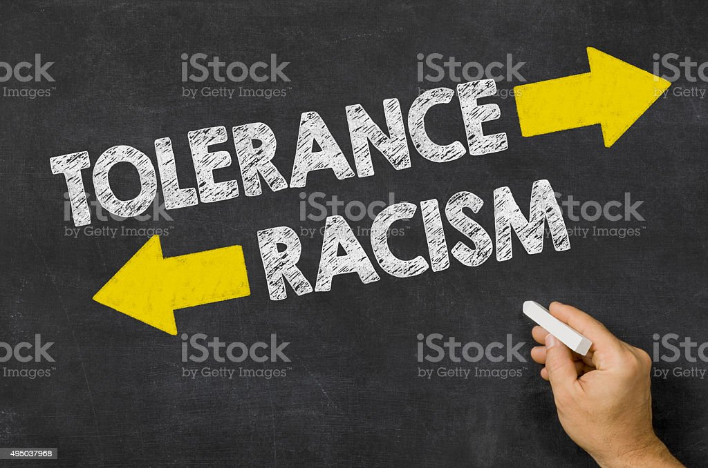 Tolerance or Racism stock photo