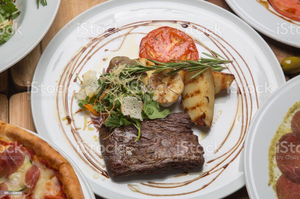 Toliet steak in the restaurant royalty-free stock photo