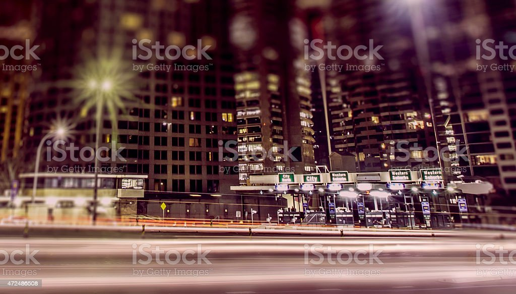 Toll booths stock photo