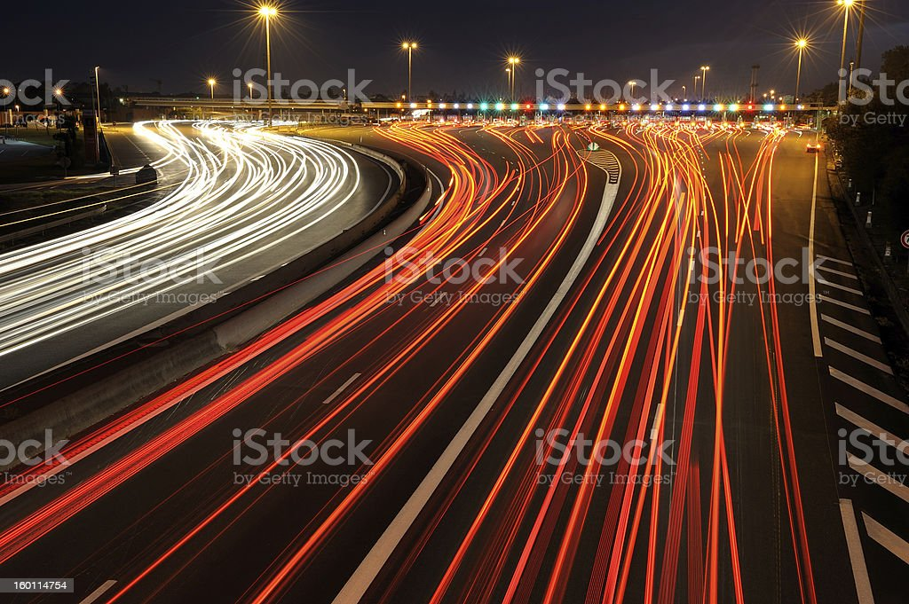 toll gate three royalty-free stock photo