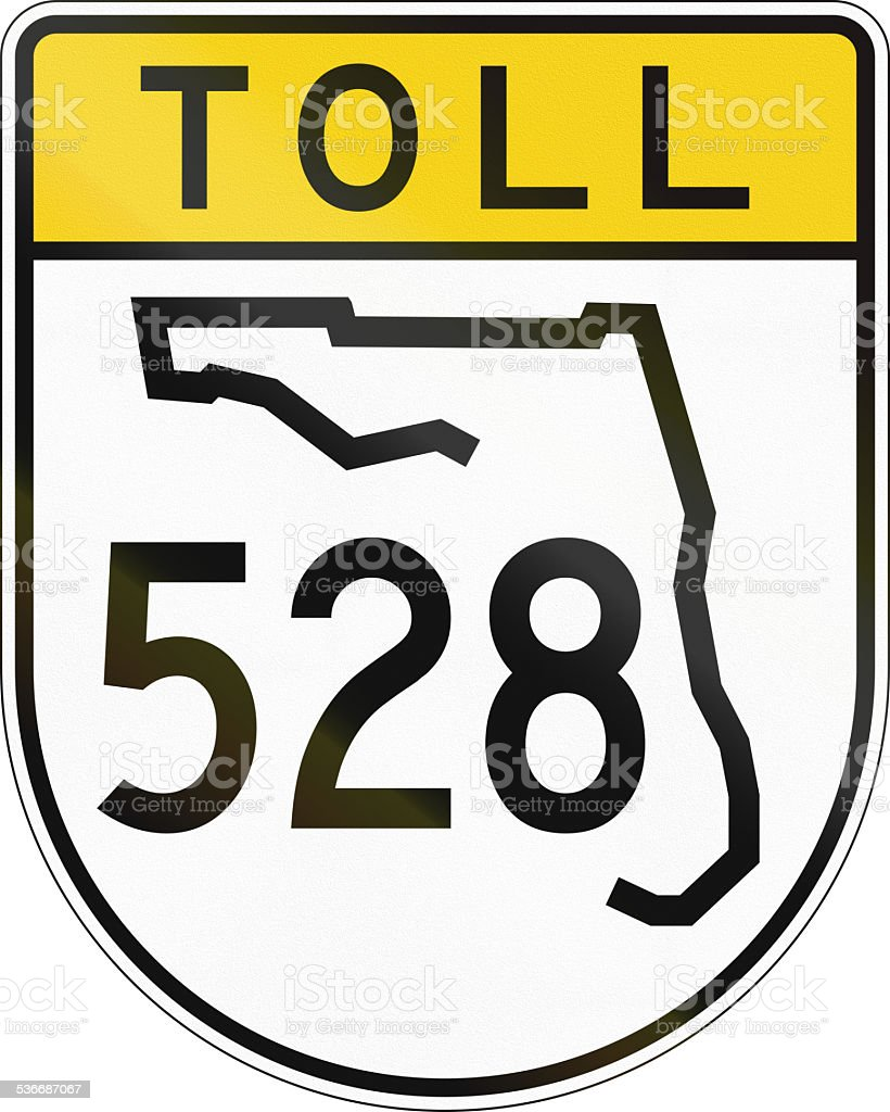 Toll Road Shield Florida stock photo