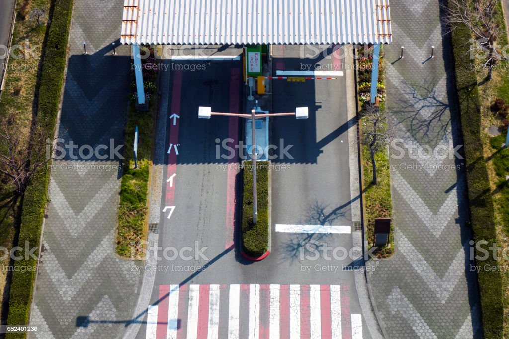 Tollbooth in car park royalty-free stock photo
