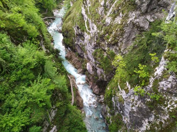 Tolmin Gorge in Triglav national park stock photo