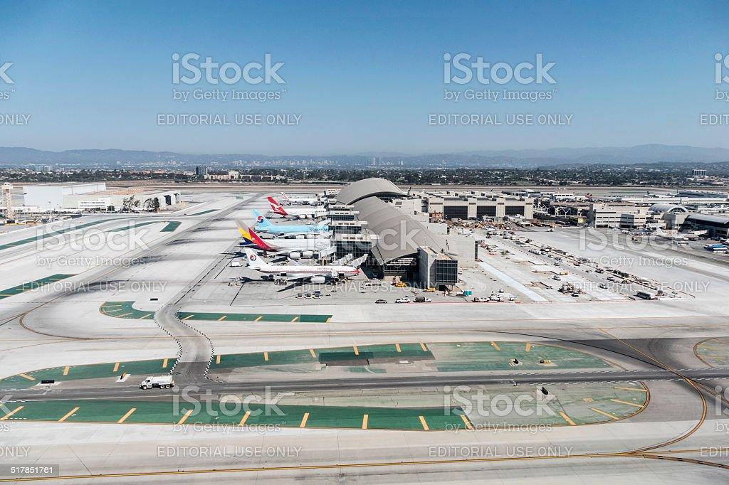 Tom Bradley Terminal at LAX stock photo