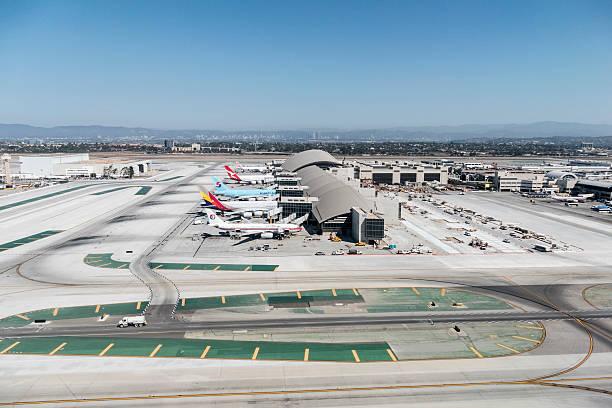 Terminal de Tom Bradley em Los Angeles - foto de acervo