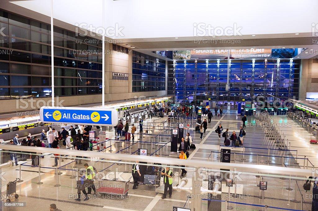 Tom Braldley International Airport, International departure -LAX stock photo