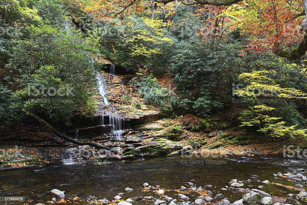 Tom Branch Falls in North Carolina royalty-free stock photo