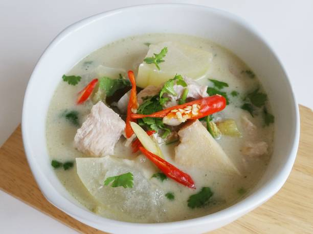 Tom kha kai, Thai coconut soup Authentic Thai Style – zdjęcie