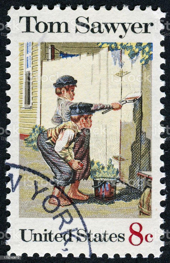 Tom Sawyer Stamp stock photo