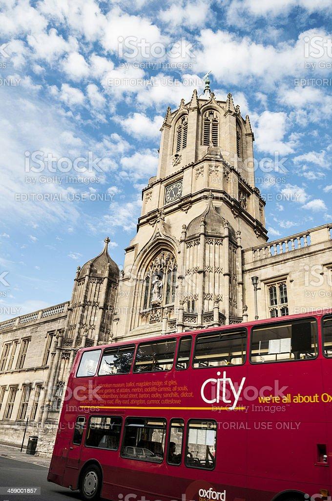 Tom Tower, Christ Church, Oxford University, England royalty-free stock photo