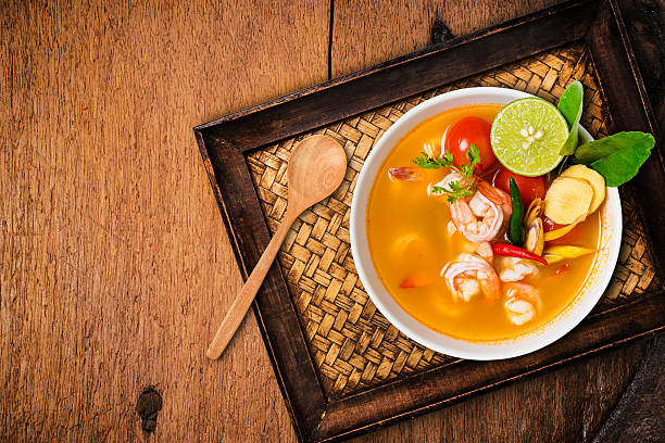 Tom yam kong or Tom yum, Thai food. - Photo
