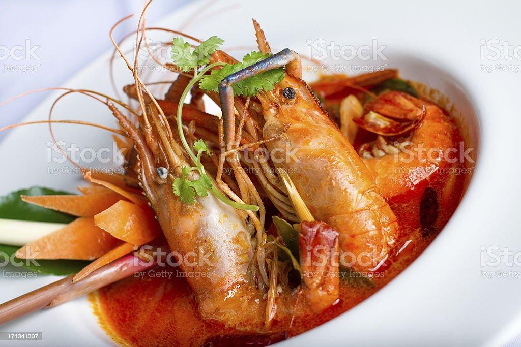 tom yam kung Mae Nam royalty-free stock photo