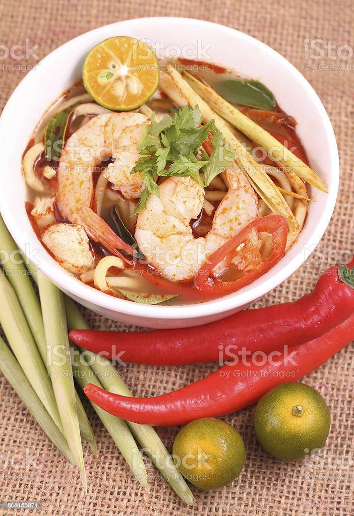 Tom Yam Noodle stock photo