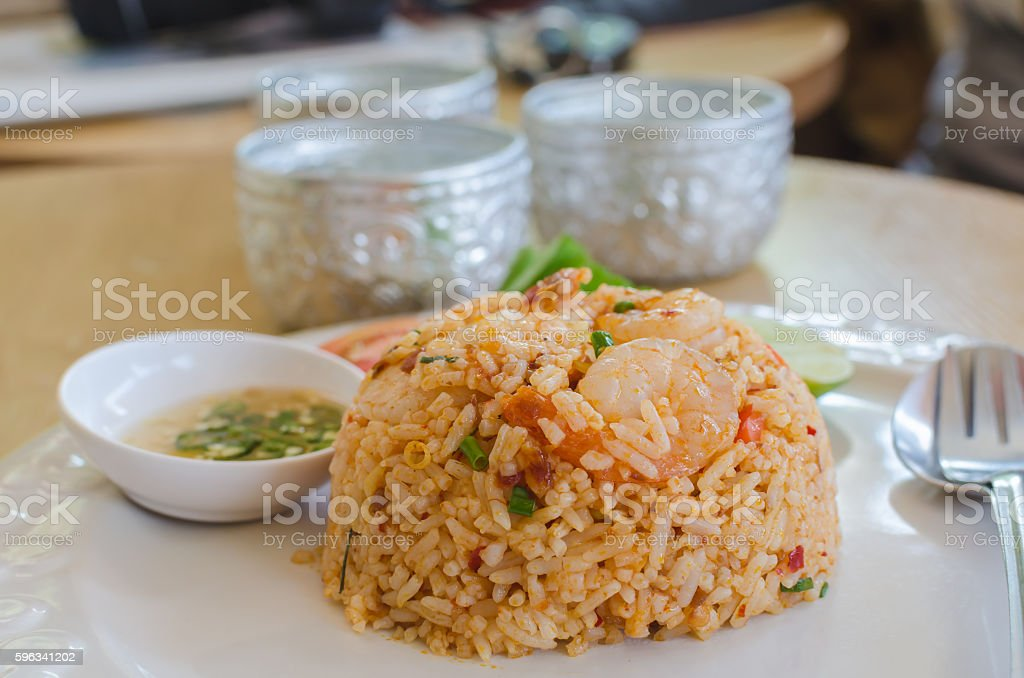 tom yum kung fried rice royalty-free stock photo