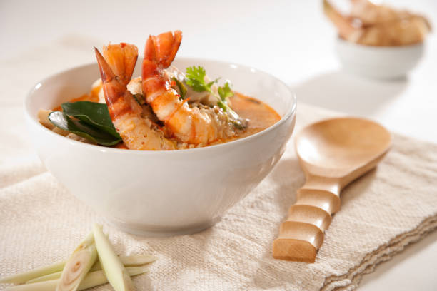 Tom Yum Kung Soup stock photo