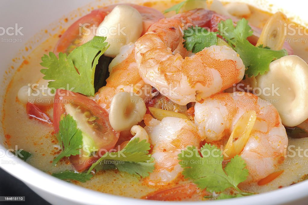 Tom Yum Kung Soup, Thai Cuisine stock photo
