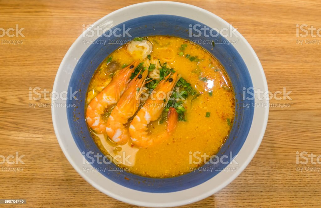 Tom Yum Noodles stock photo