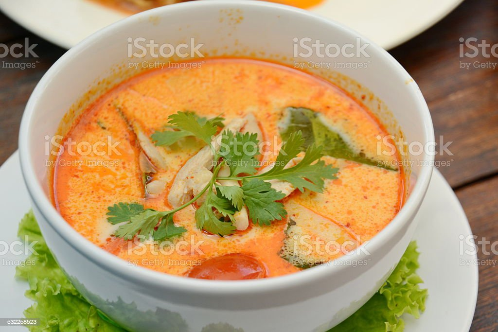 Tom Yum Soup – Thai food stock photo