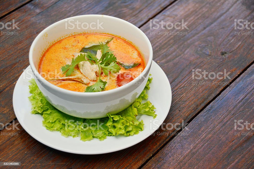 Tom Yum Soup - Thai Food stock photo