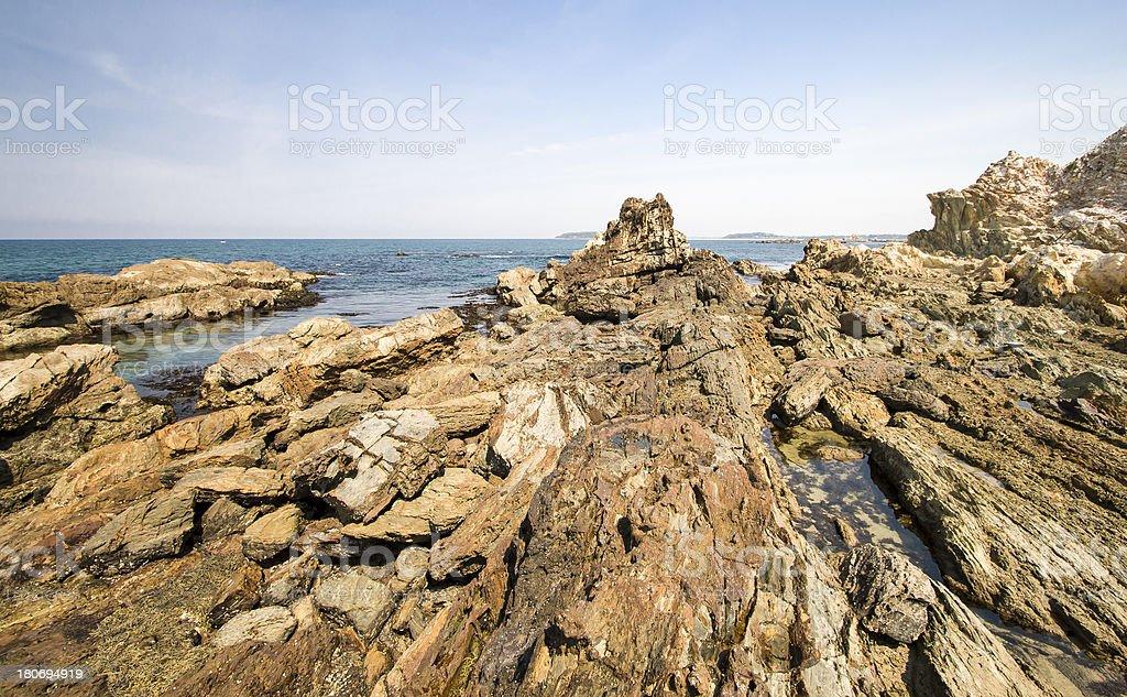 Tomakin Rocks royalty-free stock photo