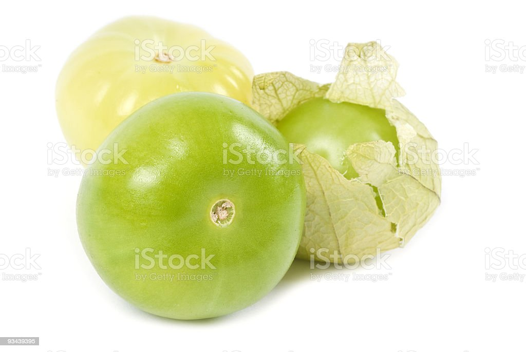 Tomatillos or Green Tomatoes stock photo