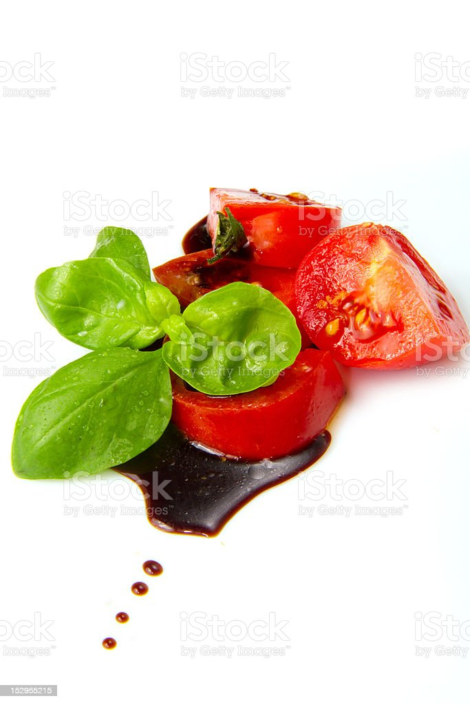 tomato and balsamic vinegar stock photo