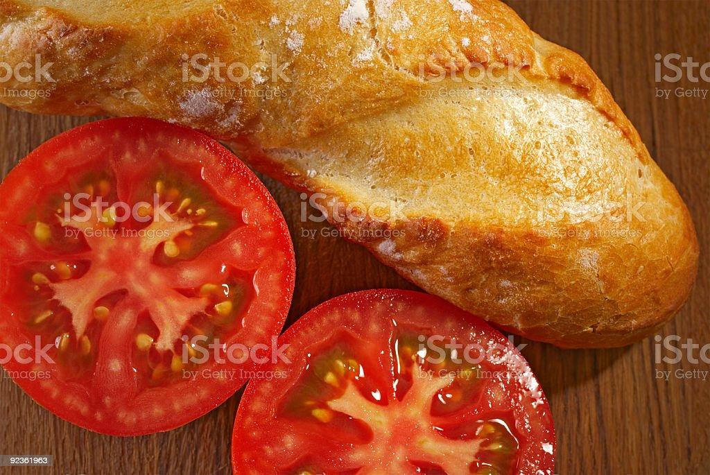 Tomaten und Brot Lizenzfreies stock-foto