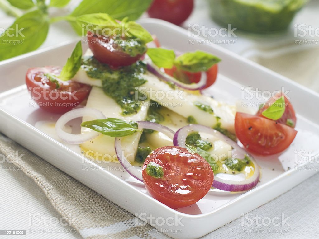 tomato and cheese salad royalty-free stock photo