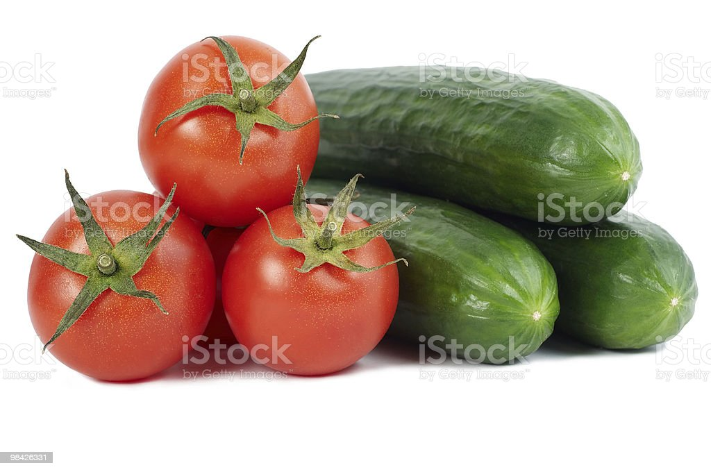 tomato and cucumber royalty-free stock photo