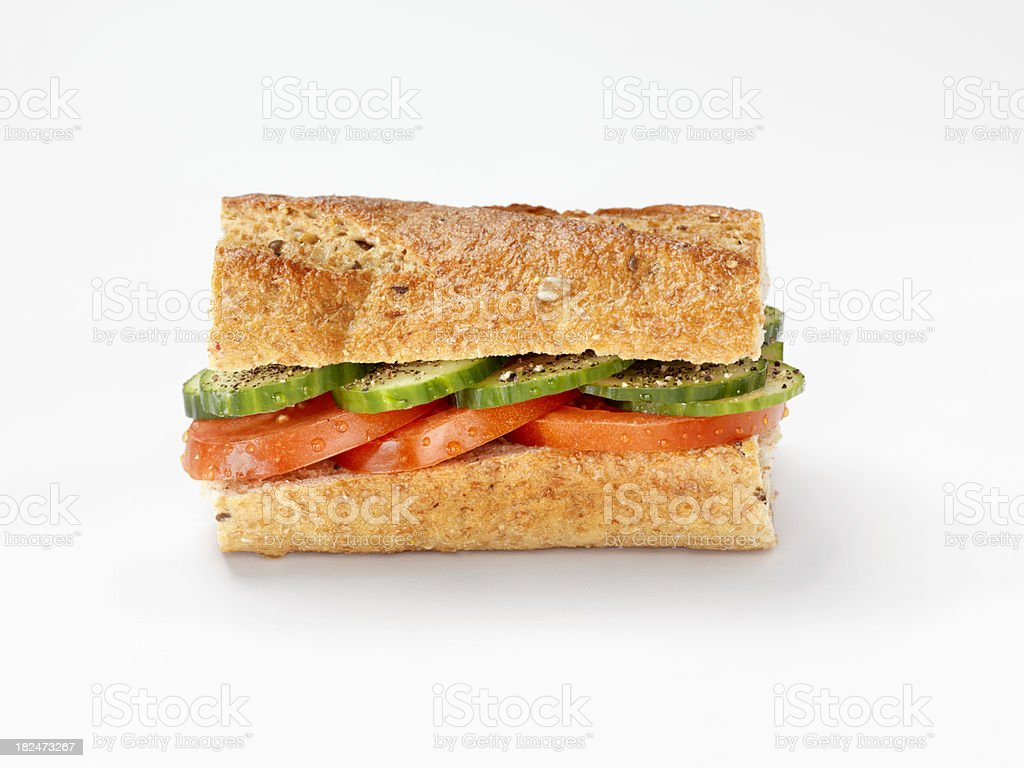 Tomato and Cucumber Sandwich royalty-free stock photo