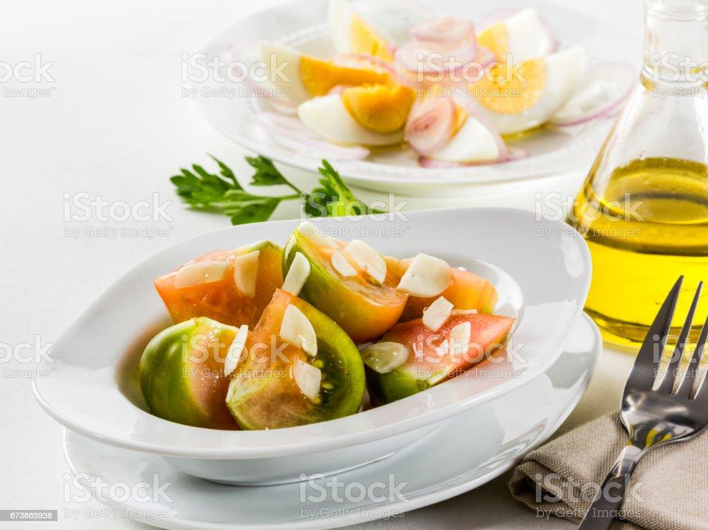 Salade de tomate et oeuf photo libre de droits