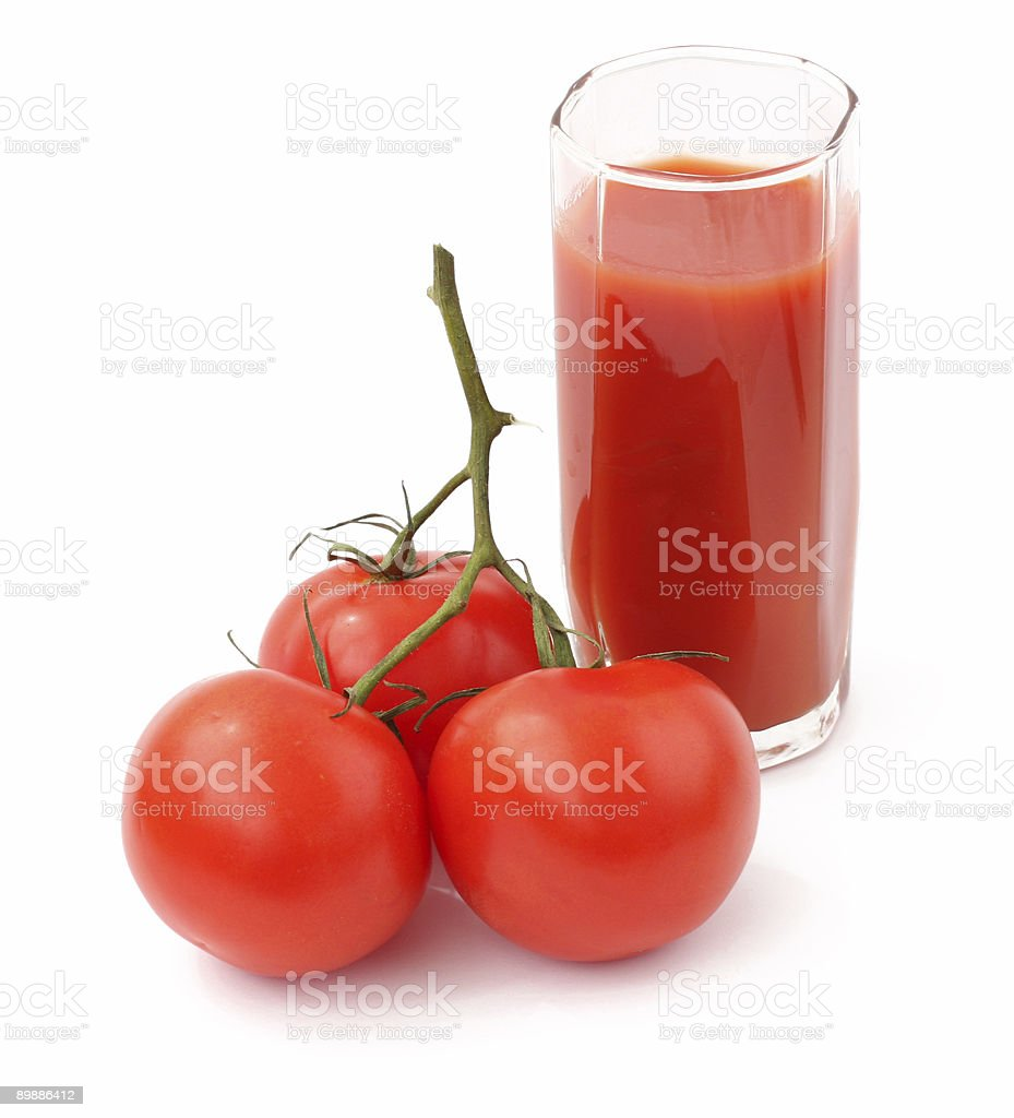 tomato and juice royalty-free stock photo