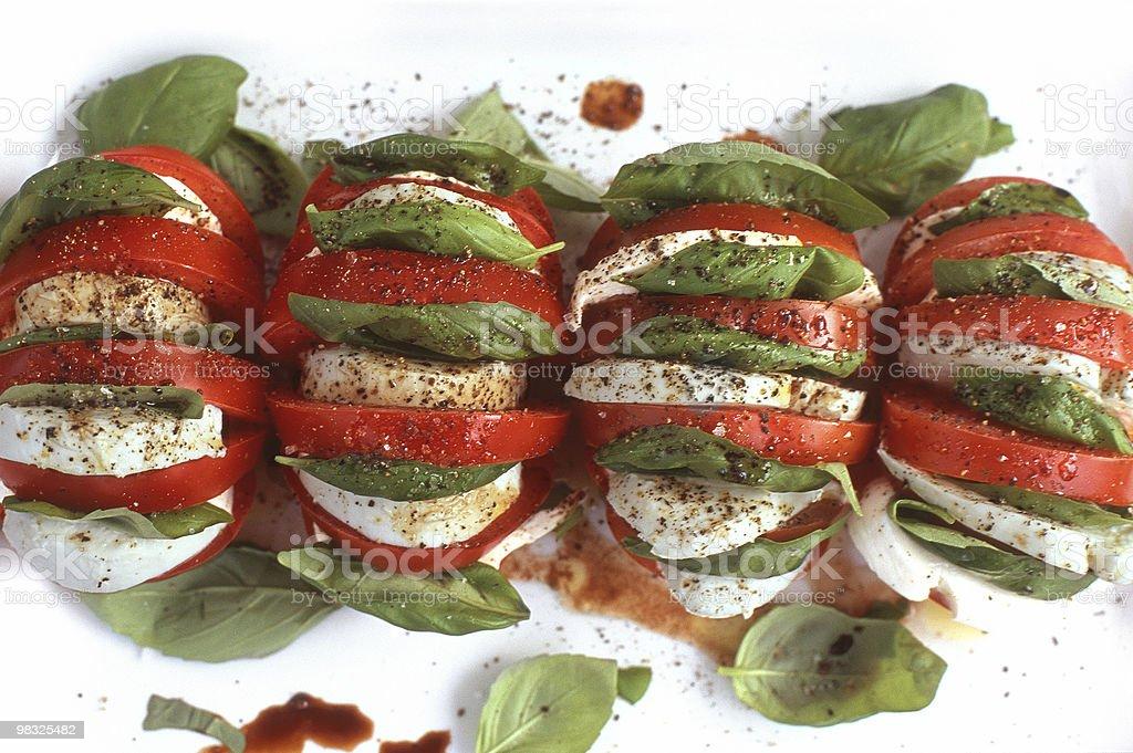 Tomato and mozzarella royalty-free stock photo