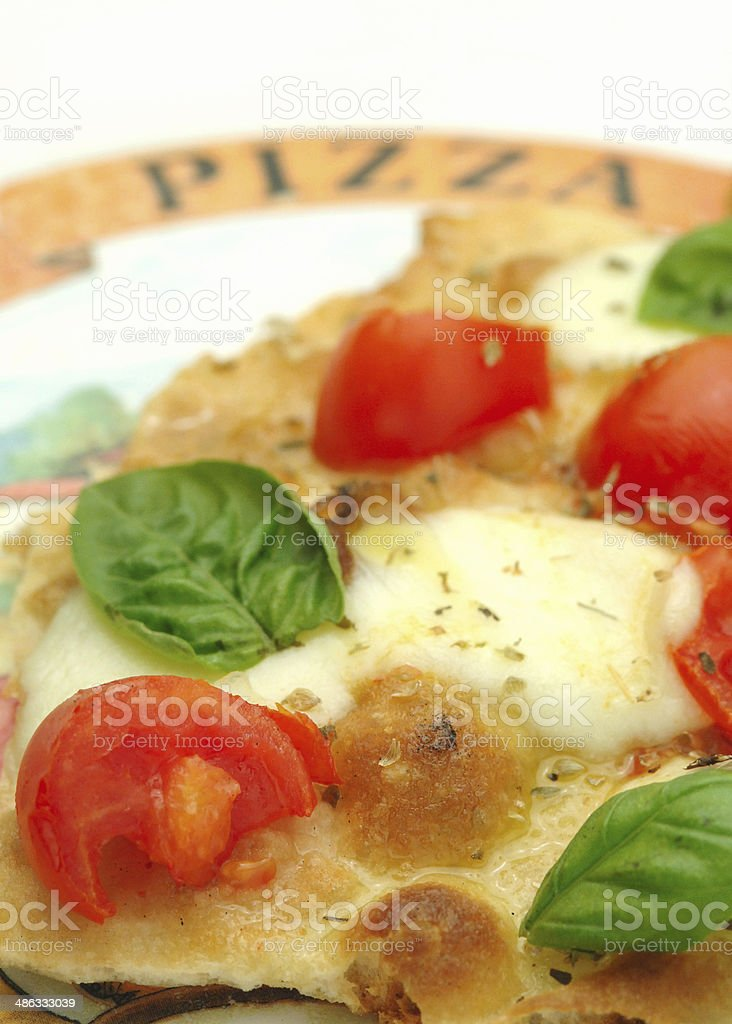 tomato and mozzarella pizza royalty-free stock photo