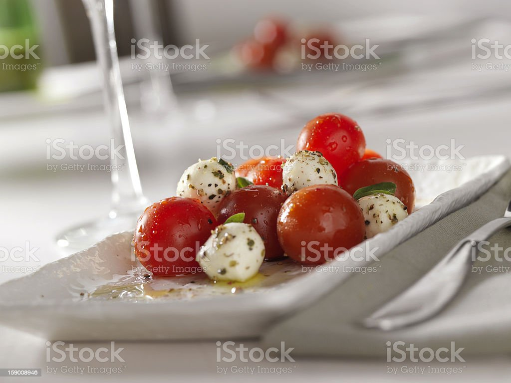 Tomato and Mozzarella Salad royalty-free stock photo