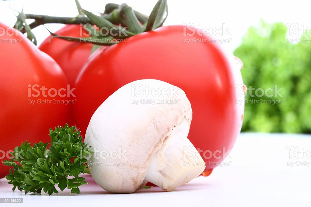 tomato and mushroom royalty-free stock photo