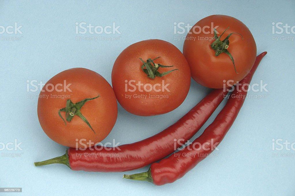 Tomato and paprika royalty-free stock photo