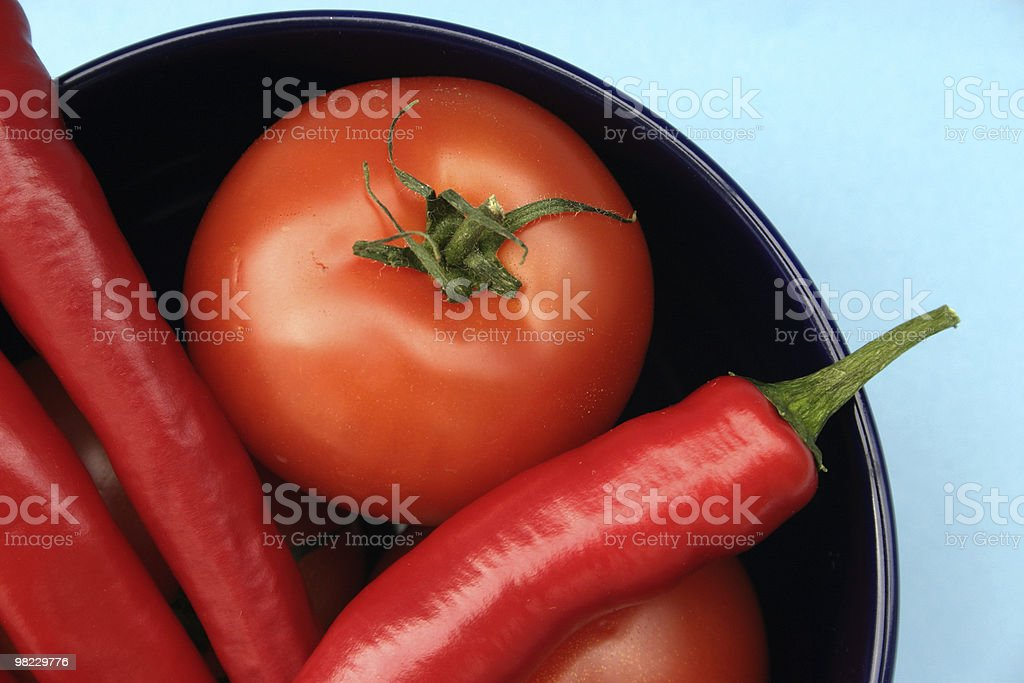 Tomato and paprika royalty-free stock photo