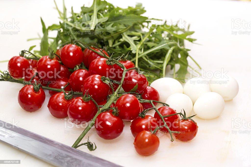tomato and quail eggs royalty-free stock photo