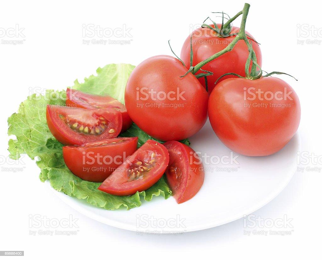 tomato and salad royalty-free stock photo