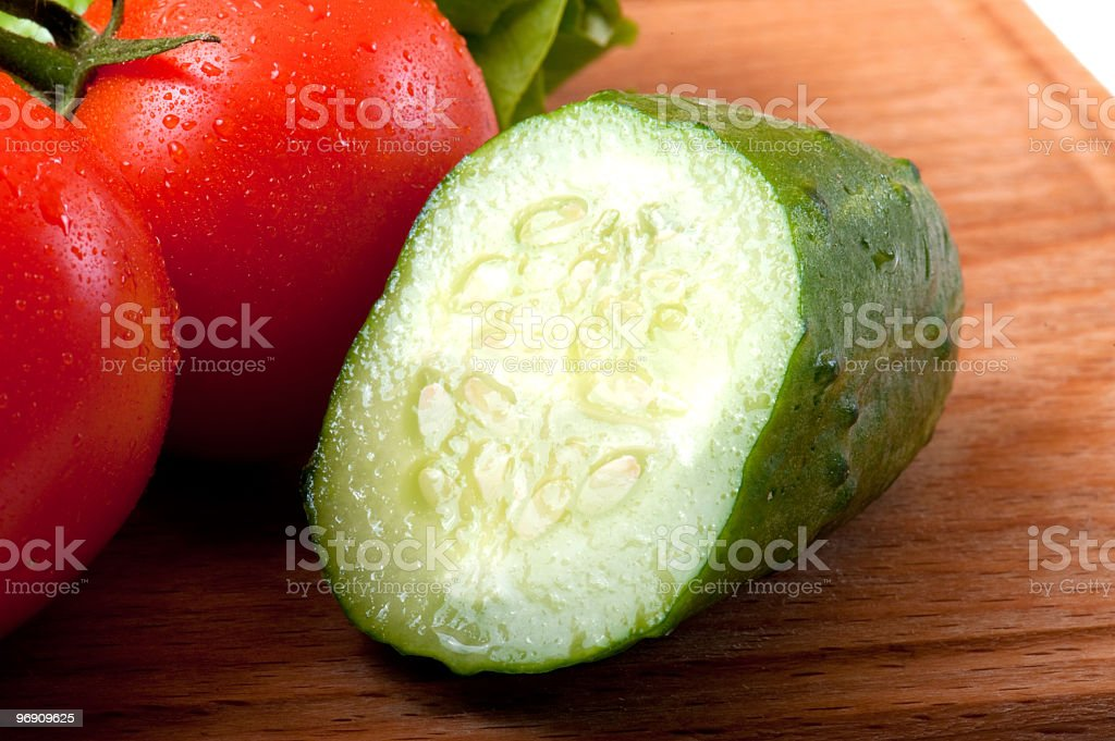 tomato and salad royalty-free stock photo