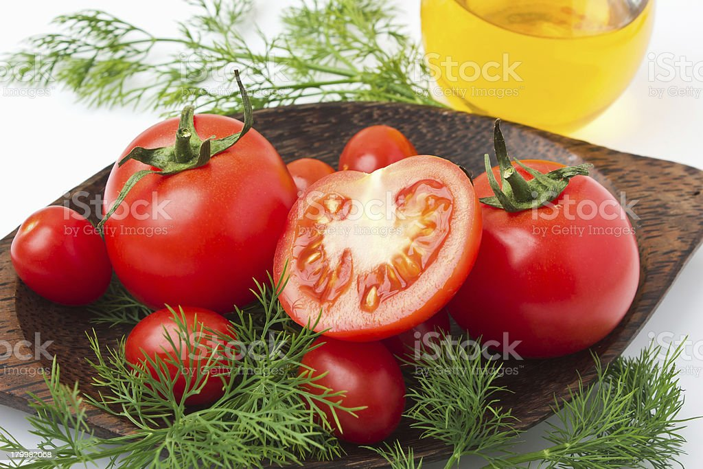 Tomato and vegetables royalty-free stock photo