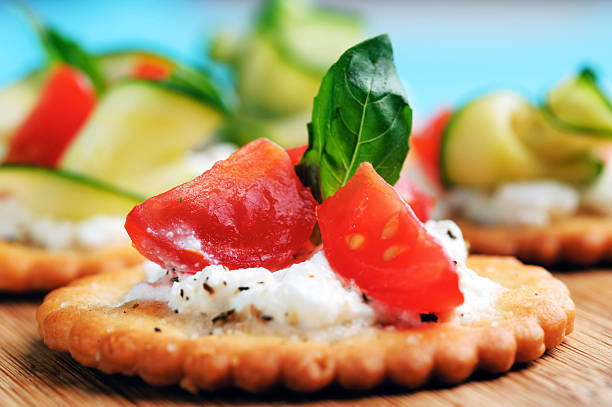 tomato appetiser - appetiser stock photos and pictures